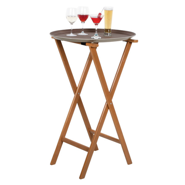Lancaster Table Amp Seating 38 Quot Folding Wood Tray Stand