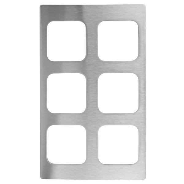 Vollrath 8244314 Miramar 6 Compartment Stainless Steel Adapter Plate for Vollrath 40003 Pans