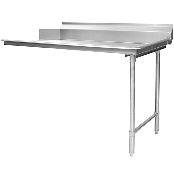 """Eagle Group CDTR-48-16/4 48"""" Right Side 16 Gauge 430 Series Stainless Steel Clean Dish Table"""