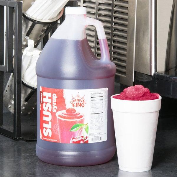 Carnival King 1 Gallon Cherry Slushy Syrup Main Image 2