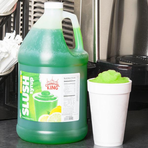 Carnival King 1 Gallon Lemon Lime Slushy Syrup Main Image 2