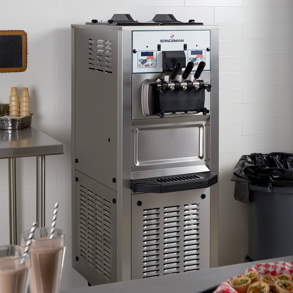 Spaceman 6378AH Soft Serve Ice Cream Machine with Air Pump and 2 Hoppers - 208/230V, 1 Phase Main Image 4