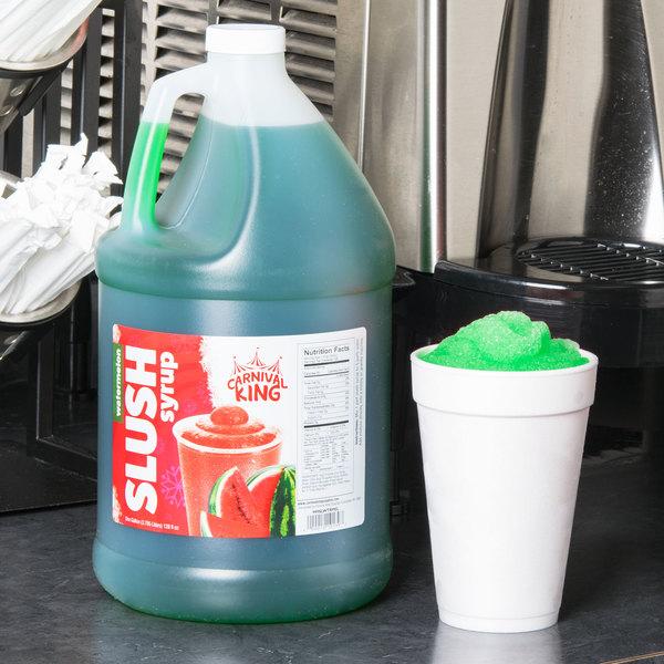Carnival King 1 Gallon Watermelon Slushy Syrup - 4/Case