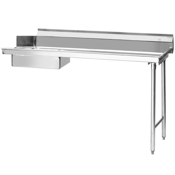 """Eagle Group SDTR-48-16/3 48"""" Right Side 16 Gauge 304 Series Stainless Steel Soil Dish Table"""
