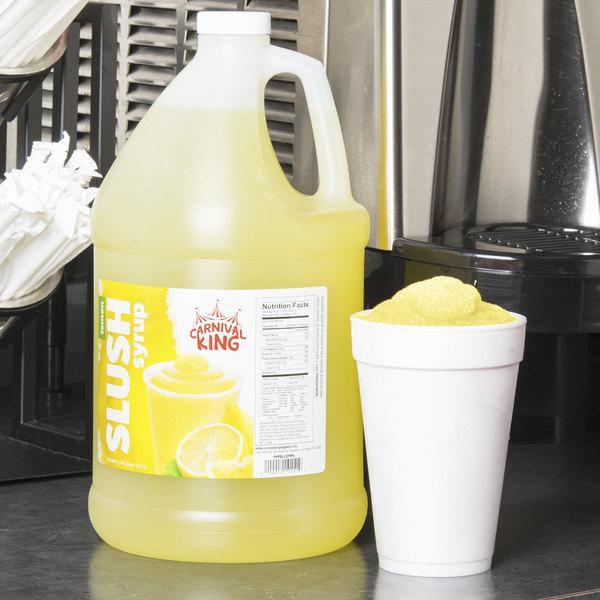 Carnival King 1 Gallon Lemon Slushy Syrup - 4/Case