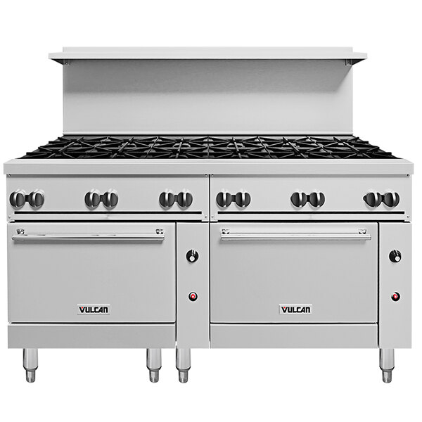 Vulcan 72SC-12BN Endurance 12 Burner Natural Gas Range with One Standard and One Convection Oven - 430,000 BTU Main Image 1