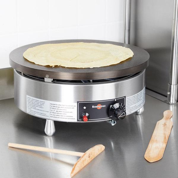 """Krampouz CGBIP4P 15 3/4"""" Round Liquid Propane Cast Iron Crepe Maker - 24,000 BTU"""