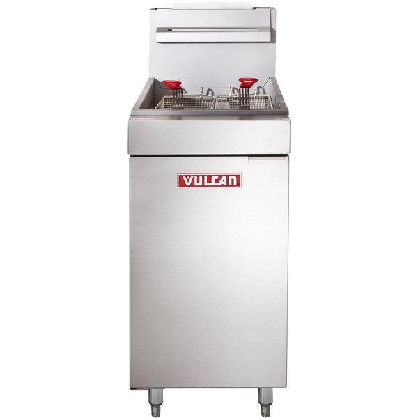 Vulcan LG300-2 35-40 lb. Liquid Propane Floor Fryer - 90,000 BTU
