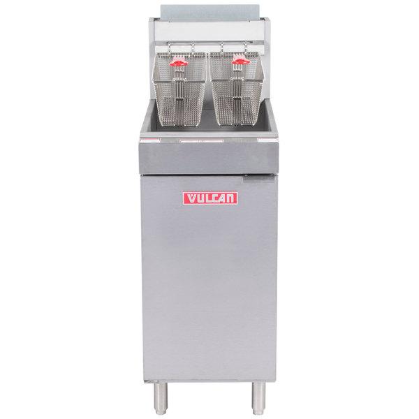 Vulcan LG400-2 45-50 lb. Liquid Propane Floor Fryer - 120,000 BTU