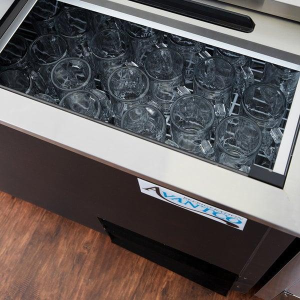 """Avantco GF50-HC 50"""" Black Glass Froster / Plate Chiller - 115V"""