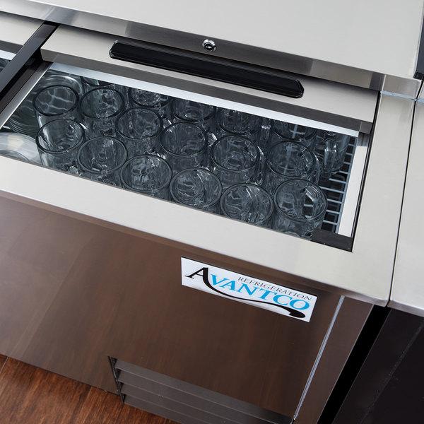 "Avantco GF50-HC-S 50"" Stainless Steel Glass Froster / Plate Chiller - 115V"
