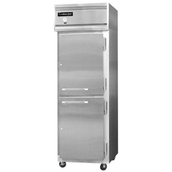 """Continental Refrigerator 1R-SA-HD 26"""" Solid Half Door Reach-In Refrigerator - 20 Cu. Ft."""