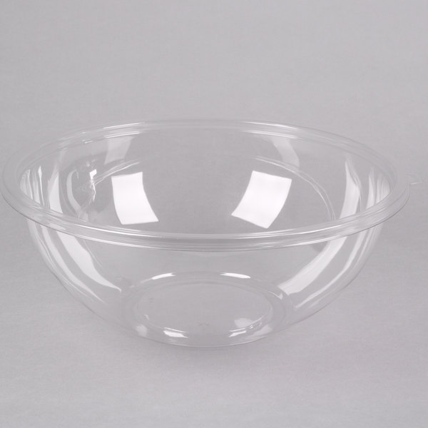 Fineline 5320-CL Super Bowl 320 oz. Clear PET Plastic Bowl - 25/Case