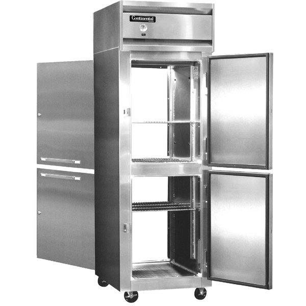 "Continental Refrigerator 1R-SA-PT-HD 26"" Solid Half Door Pass-Through Refrigerator"