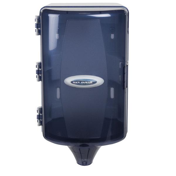San Jamar T450TBL Mini Adjustable Centerpull Towel Dispenser - Arctic Blue