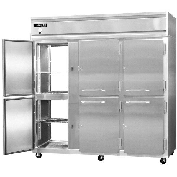"Continental Refrigerator 3R-SA-PT-HD 78"" Solid Half Door Pass-Through Refrigerator"