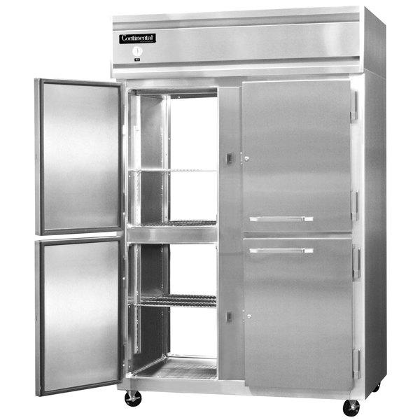 "Continental Refrigerator 2R-SA-PT-HD 52"" Solid Half Door Pass-Through Refrigerator"