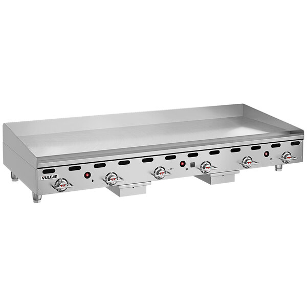 """Vulcan MSA-72-101 72"""" Countertop Natural Gas Griddle with Snap-Action Thermostatic Controls - 162,000 BTU Main Image 1"""