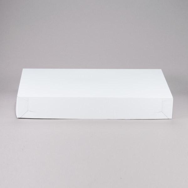 Southern Champion 1050 28 inch x 20 inch x 4 inch White Full Sheet Cake / Bakery Box - 25/Bundle