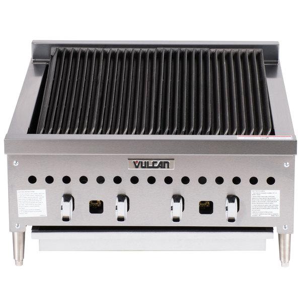 "Vulcan VCCB25-201 Liquid Propane Low Profile 25"" Radiant Charbroiler - 58,000 BTU"