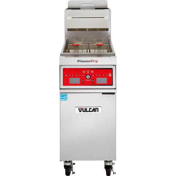 Vulcan 1VK85C-1 PowerFry5 85-90 lb. Natural Gas Floor Fryer with Computer Controls - 90,000 BTU