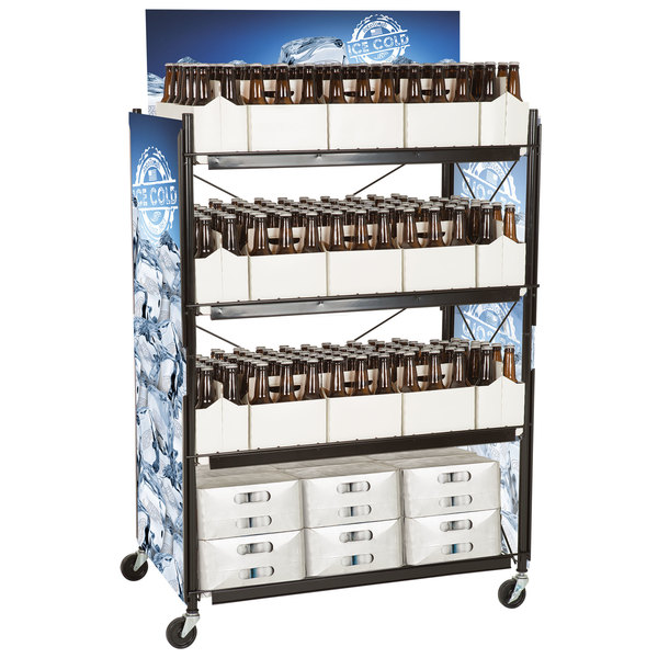 """IRP WR-5542 4-Shelf Beer and 6-Pack Display Rack - 36 3/4"""" x 22"""" x 51 3/4"""""""