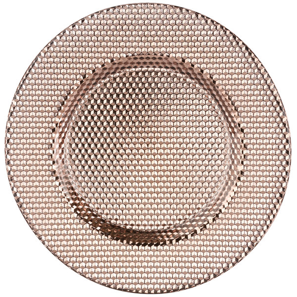 """10 Strawberry Street DECO-340COP Deco 13"""" Copper Charger Plate"""
