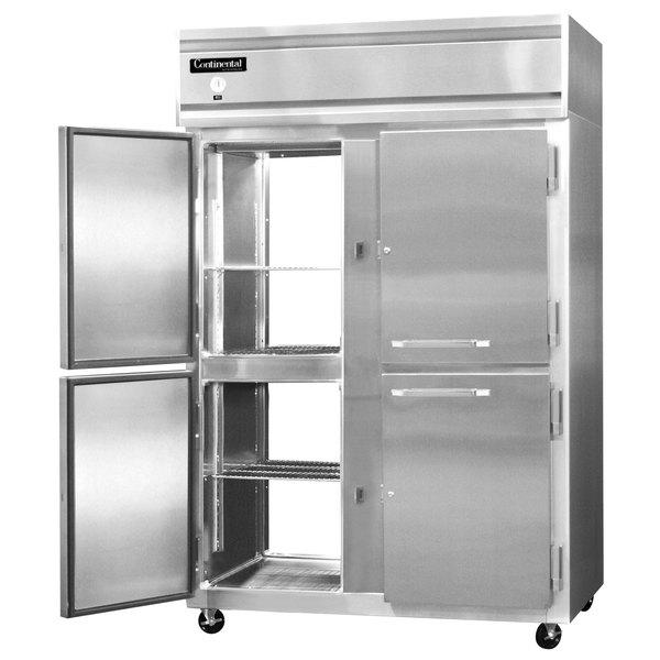 "Continental Refrigerator 2R-PT-HD 52"" Solid Half Door Pass-Through Refrigerator - 48 Cu. Ft."
