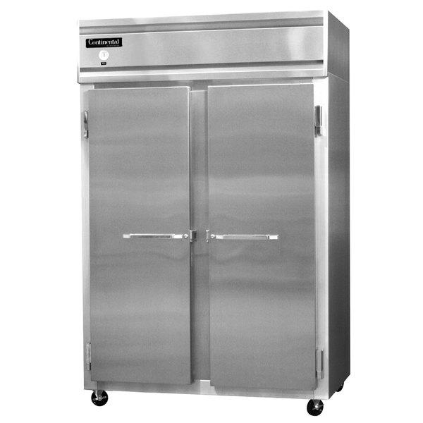 "Continental Refrigerator 2R-SS 52"" Solid Door Reach-In Refrigerator - 48 Cu. Ft."