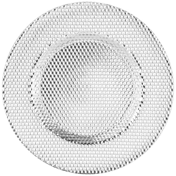 "10 Strawberry Street DECO-340SLV Deco 13"" Silver Charger Plate"