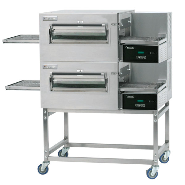 Lincoln 1180-2V Impinger II 1100 Series Ventless Double Electric Conveyor Oven Package - 240V, 10 kW, 1 Phase
