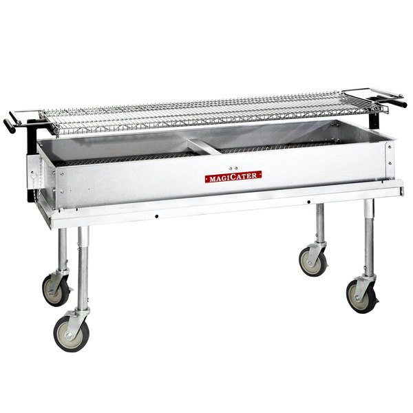 """MagiKitch'n CG-60 Portable 60"""" Aluminized Steel Charcoal Grill"""