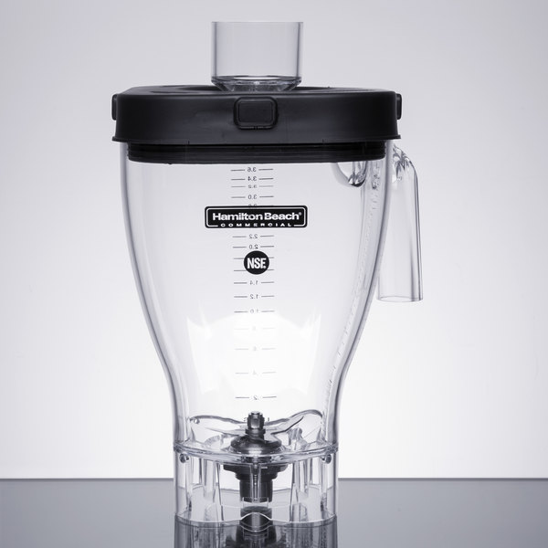 Hamilton Beach 6126-1100 1 Gallon Polycarbonate Jar with Lid and Blade Assembly Main Image 1