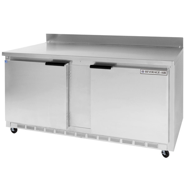 Beverage Air WTR60A 60 inch Worktop Refrigerator - 2 Doors
