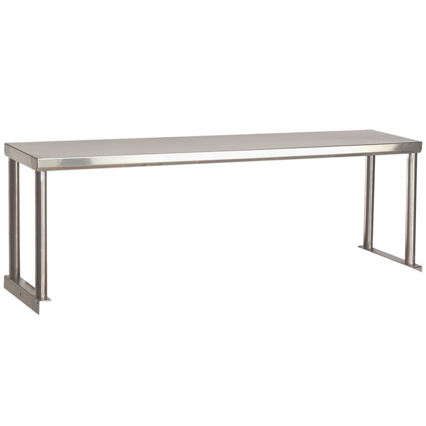 "Advance Tabco STOS-6 Stainless Steel Single Overshelf - 12"" x 93 1/8"" Main Image 1"