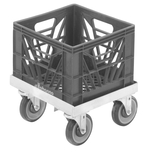 """Channel MC1313 13"""" x 13"""" Milk Crate Dolly - 1 Stack Capacity Main Image 1"""