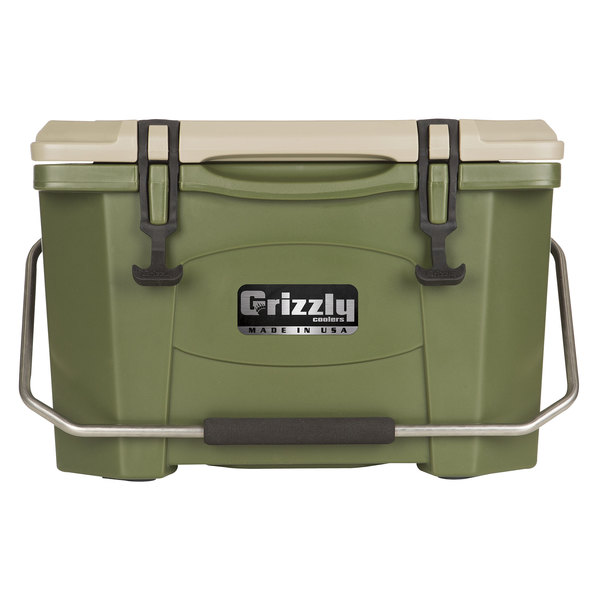 Grizzly Cooler 20 Qt. Olive Green Extreme Outdoor Merchandiser / Cooler
