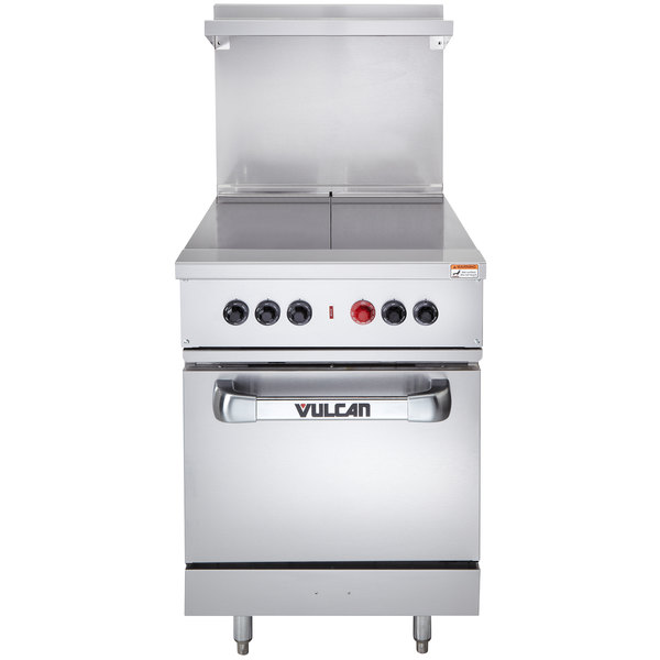 """Vulcan EV24S-2HT4803 Endurance Series 24"""" Electric Range with 2 Hot Tops and Oven Base - 480V, 15 kW"""