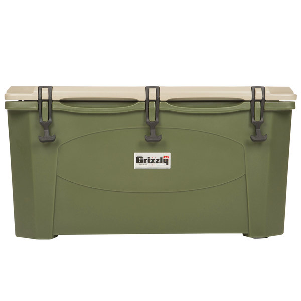 IRP 75 Qt. Olive Green Extreme Outdoor Grizzly Merchandiser / Cooler