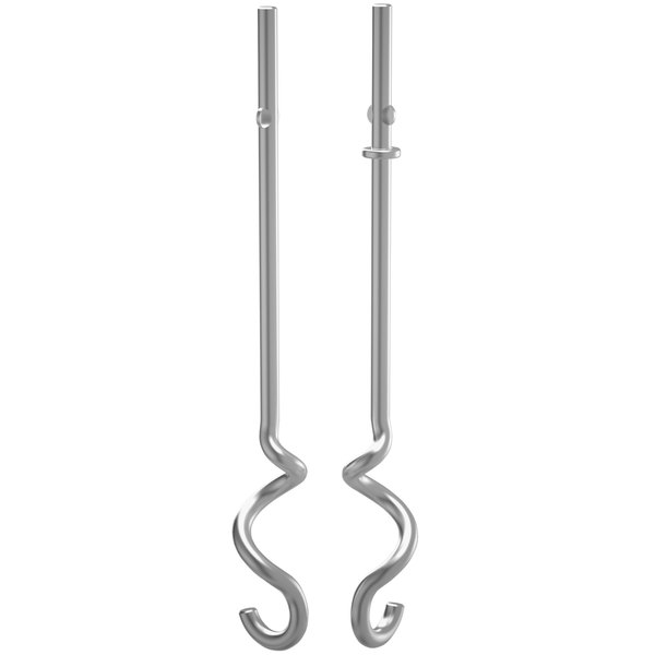 KitchenAid KHM2DH Stainless Steel Dough Hook Set for Hand Mixers