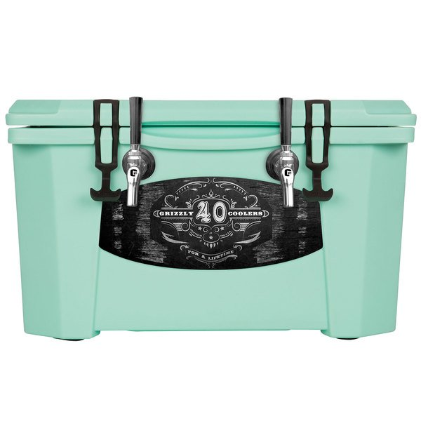 Grizzly Cooler 9080 2 Faucet Seafoam Green 40 Qt. Jockey BrewBox with (2) 75' Coils