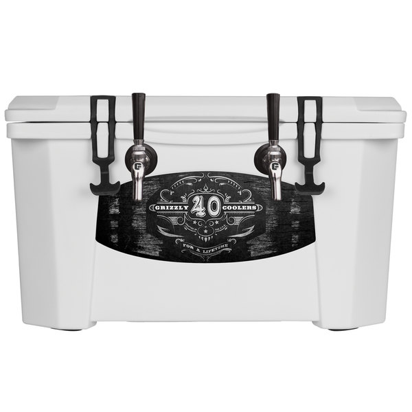 Grizzly Cooler 9080 2 Faucet White 40 Qt. Jockey BrewBox with (2) 75' Coils