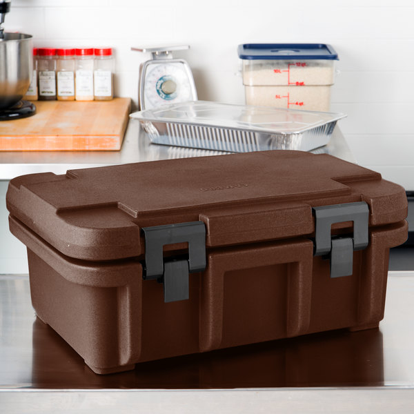 "Cambro UPC160131 Dark Brown Camcarrier Ultra Pan Carrier - Top Load for 12"" x 20"" Food Pan"