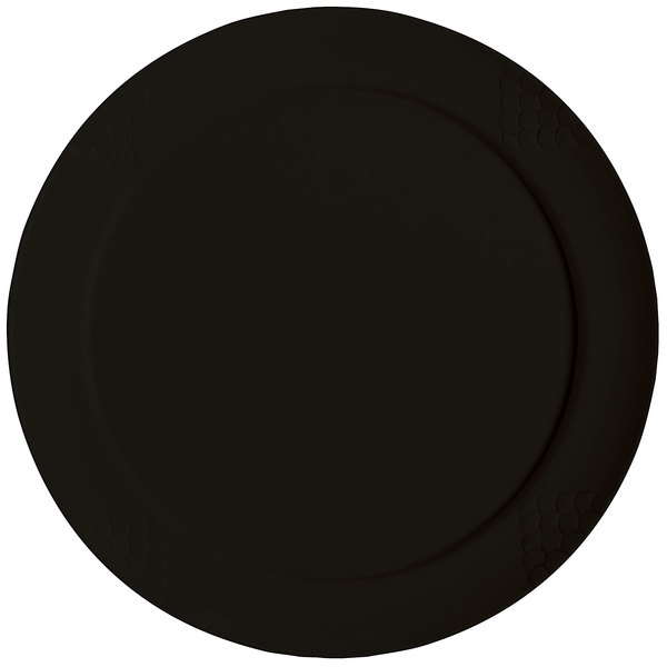 "GET RP-18-BK 18"" Black Sonoma Melamine Plate - 6/Case Main Image 1"