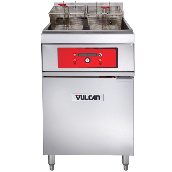 Vulcan 1ER85D-1 85 lb. Electric Floor Fryer with Digital Controls - 208V, 3 Phase, 24 kW