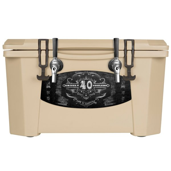 Grizzly Cooler 9080 2 Faucet Tan 40 Qt. Jockey BrewBox with (2) 75' Coils
