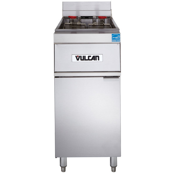Vulcan 1ER50A-2 50 lb. Electric Floor Fryer with Analog Controls - 480V, 3 Phase, 17 kW