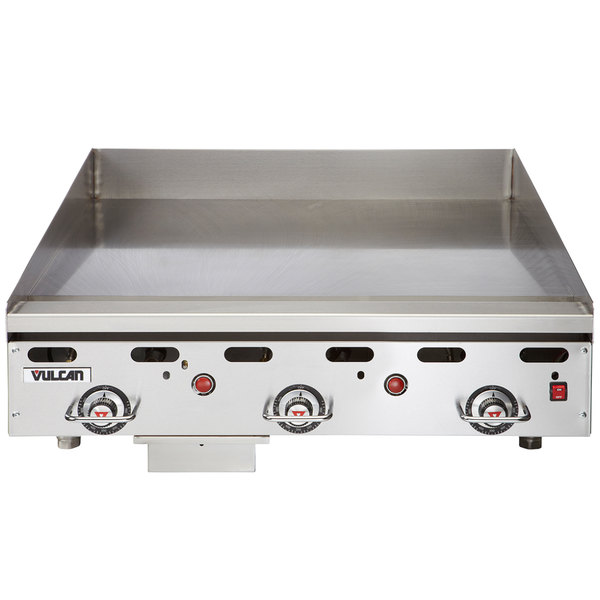 """Vulcan 936RX-30 Natural Gas 36"""" Griddle with Snap-Action Thermostatic Controls and Extra Deep Plate - 81,000 BTU"""