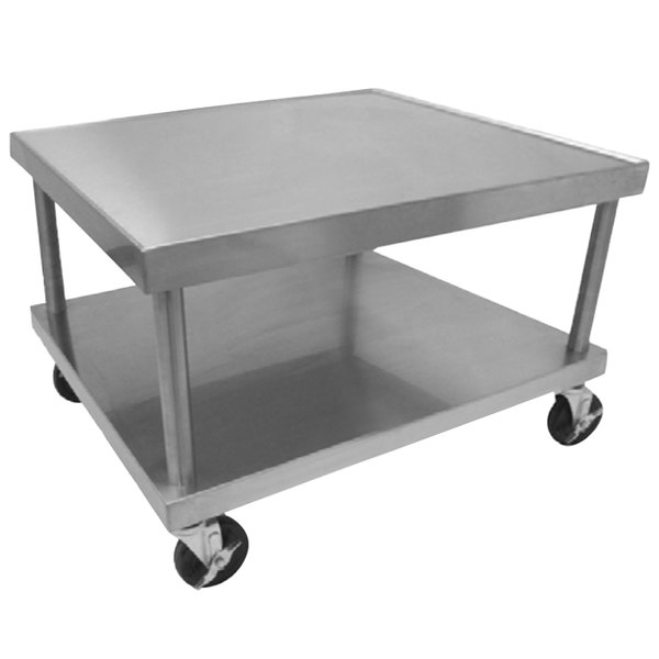 "Vulcan STAND/C-36 30"" x 37"" Stainless Steel Mobile Equipment Stand"
