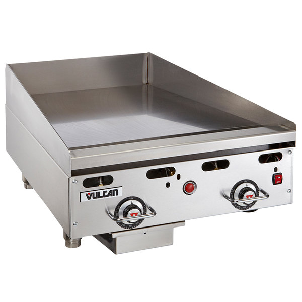 """Vulcan 924RX-24 Natural Gas 24"""" Griddle with Snap-Action Thermostatic Controls - 54,000 BTU Main Image 1"""